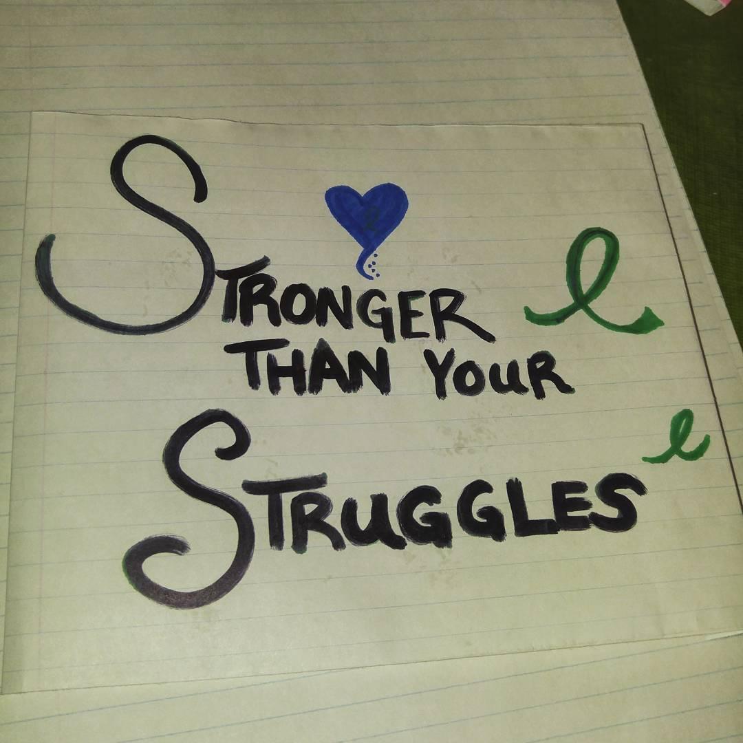 stronger than your struggles - jenna white